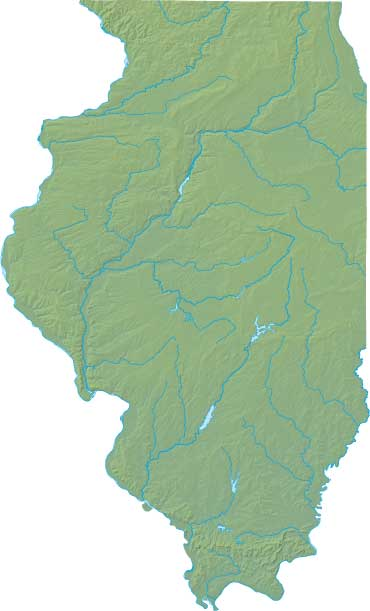 Illinois relief map