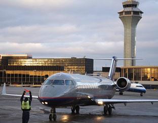 jet at ohare international airport chicago illinois